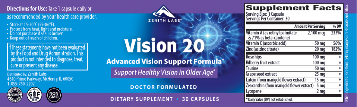 Supplement: Vision 20 - 30-Day Supply